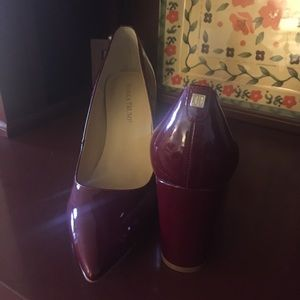Patent, Cranberry Red Heel — Size 9 1/2